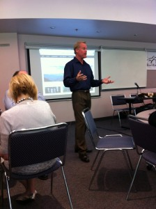 Owner of HomeFolio Media speaking at RMA